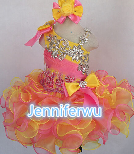 15 color-Infant//toddler//kids//baby//Girl/'s Pageant//prom//formal Dress size1-7G279-1
