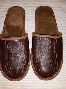 Herren-Schuhe-Hausschuhe-Pantoffeln-Huettenschuhe-Groesse-44-45