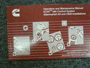 cummins icon idle control system owner operator maintenance rh ebay com 6.7 Cummins Manual Cummins Manual Transmission