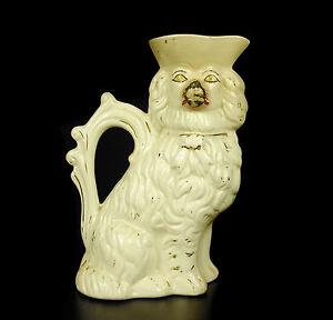 Prudent Pot, Pichet Chien En Faïence De Stafforshire Earthenware Dog Pot H:19cm Xix Th à Vendre