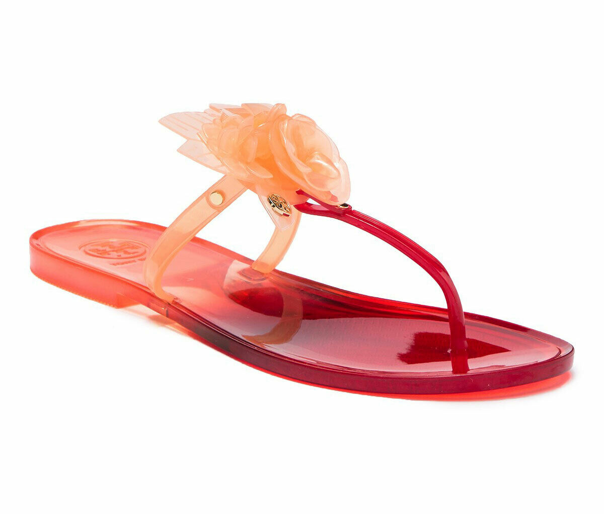 Tory Burch Blossom Pink JELLY Thongs Sandals Flip Flop Slides 8