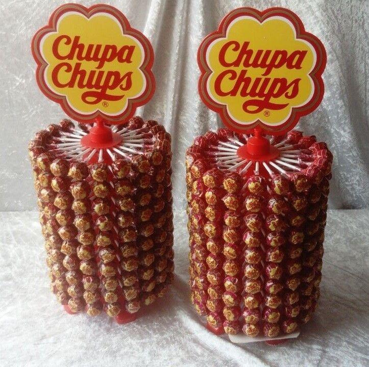 ✰200 Chupa Chups✰ Lieblings Lolly Erdbeer Sahne ✰ auf einem Drehrad(Kg   ) | Moderne und elegante Mode  | Perfekt In Verarbeitung