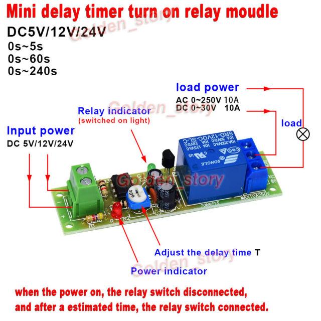 10A NE555 Timer Relay Module DC 5V 12V 24V adjustable time delay turn on macromatic alternating relay, abb alternating relay, delay timer relay, macromatic phase monitor relay,