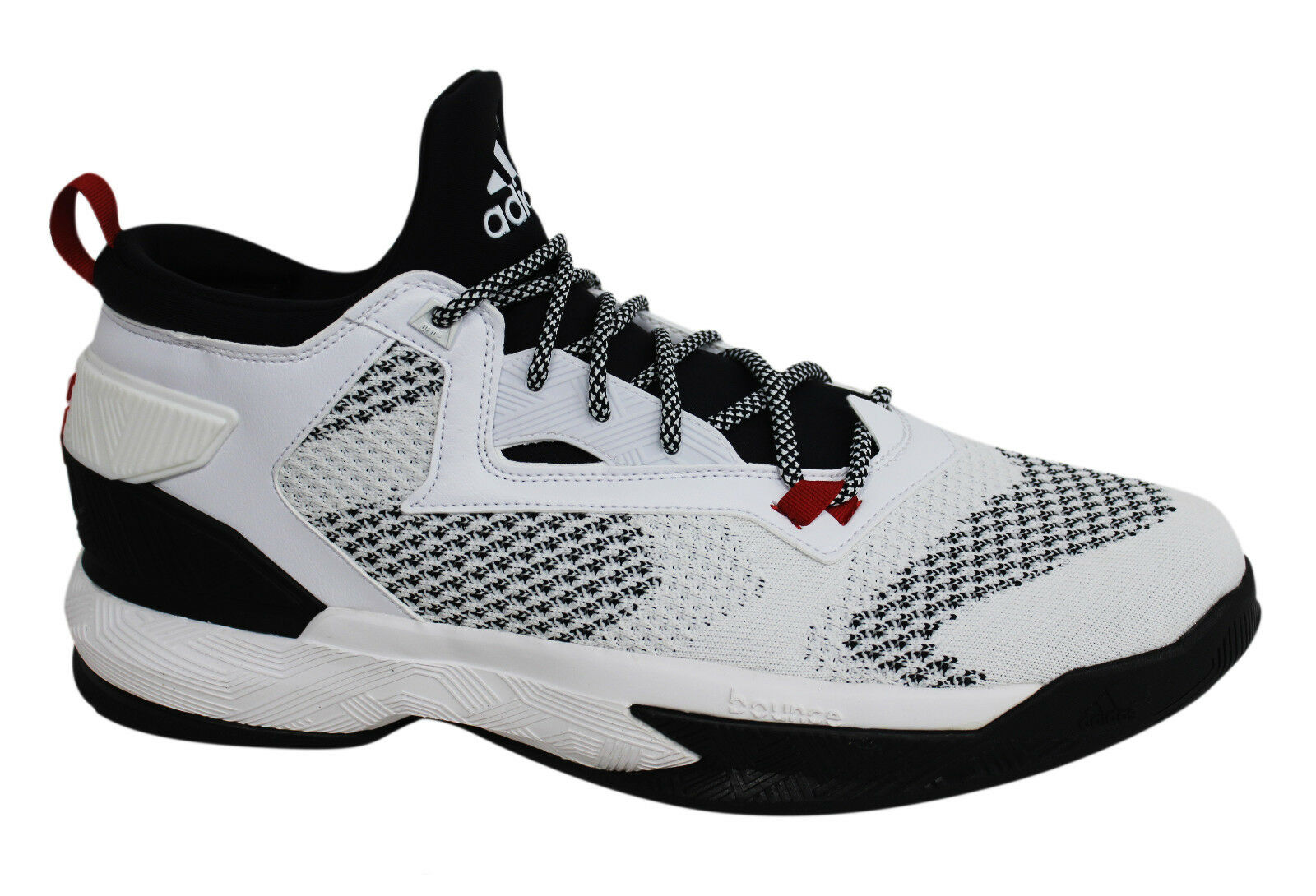 Adidas D Lillard 2 PK ProKnit Lace Up White Mens Basketball Trainers ... ff915b852d35