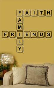 Image Is Loading Faith Family Friends Scrabble Vinyl Wall Art Decal