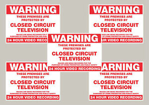 5-Warning-CCTV-security-stickers-signs-50mm-x-70mm-Free-1st-class-delivery