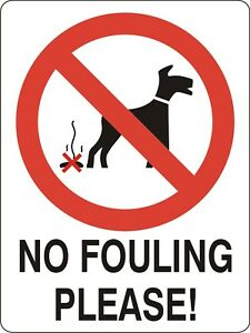 image is loading no dog fouling sticker 15cmx10cm sign warning self