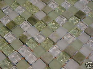 Glasmosaik Naturstein Marmor Fliesen Grun Glas Mosaik Bad Pool