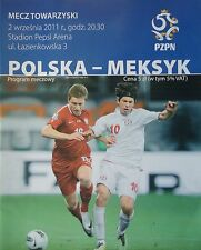 Programma LS 2.9.2011 POLONIA POLSKA-MESSICO
