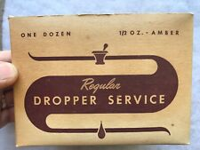 Brockway Glass Full Original Box Of 12 Medical Droppers