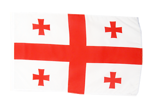 Georgia Republic New Sleeved Flag suitable for Boats 45cm x 30cm