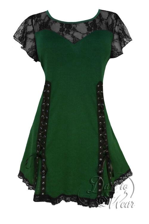 Gothic Gothic Gothic ROXANNE Stretch Stile Corsetto Top verde Envy Taglia 18 20 a 26 28 Plus Dimensione 1e9855