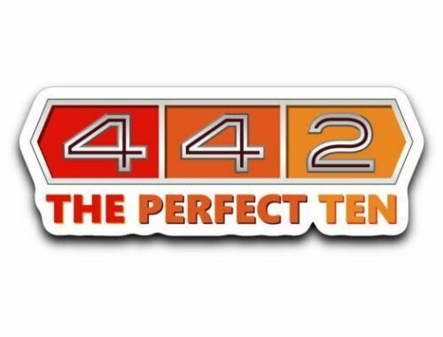 Oldsmobile 442 Vinyl Sticker Olds 4-4-2 The Perfect Ten Decal 4 Styles To Choose