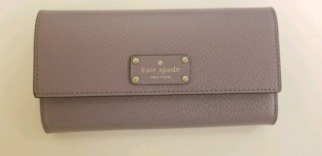Kate Spade Envelope Foldover Leather Wallet Wellesley Jean Lush Lilac WLRU5119