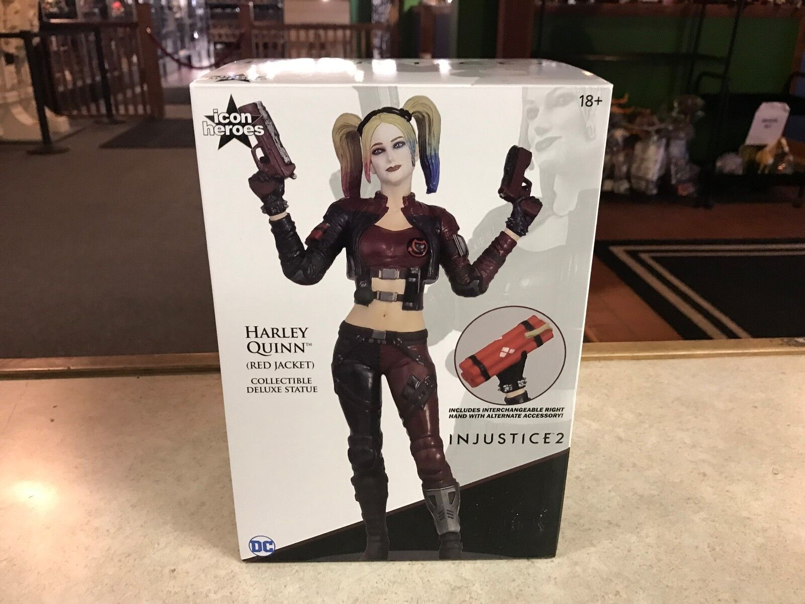 DC Injustice 2 Harley Quinn PX Previews Exclusive rot Jacket Statue Icon Heroes