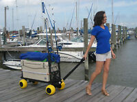 Beach Fishing Garden Plus One Series Cart 4 All-terrain Wheels Pull Wagon Color