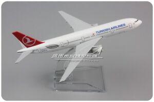 16cm Turkish Airline BOEING 777-300 Passenger Airplane Plane Metal Diecast Model
