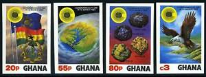 GHANA-SCOTT-822-5-COMMONWEALTH-DAY-1983-IMPERF-SET-MNH