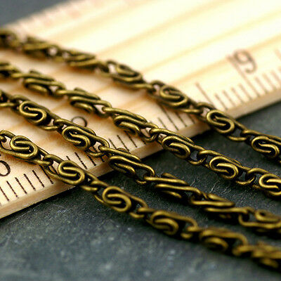 2.4mm Antique Bronze Plated Link Chains c199b (4ft)