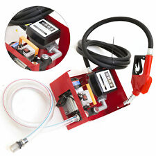 Portable Electric Self Priming Type Diesel Oil Pump With Hoses Amp Fuel Nozzle New