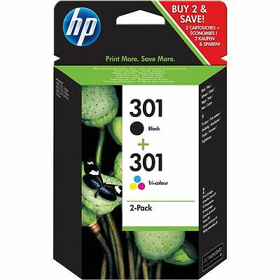Genuine HP 301 Black & Colour Ink Cartridge For Deskjet 1050A VAT inc N9J72AE