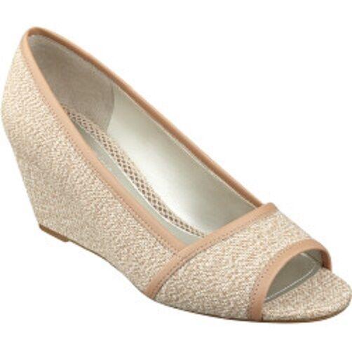 Easy Spirit Brigette wedge pump sandal tan natural beige sz 10 Med NEW