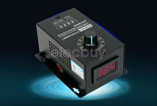 New 6-90V PWM DC Motor Speed Control PLC 15A MAX Speed Governor Volt LED Display