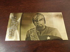 Star Trek Insurrection - Lt. Commander Worf Gold Foil Card G-7  #'d 36/400