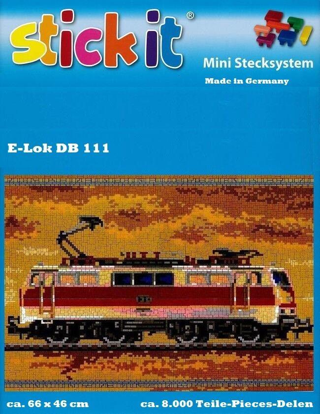 Mini Stecksystem E-Lok DB 111 ca. 8.000 Teile mit XXL-Steckvorlage XXL-Steckvorlage XXL-Steckvorlage Nr. 42139 b147e3