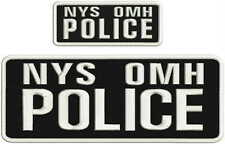 NYS OMH Police embroidery patch 4X10 and 2x5 hook ON BACK