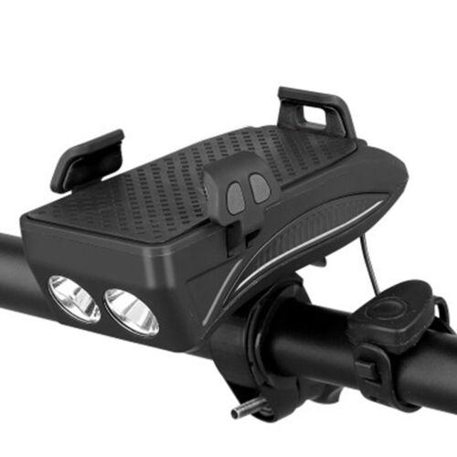 Verstellbare 4 in 1 Fahrrad-Telefon-Halter MIT Taschenlampe//Horn//Powerbank