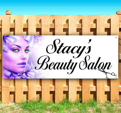 Stacy S Beauty Salon Advertising Vinyl Banner Flag Sign Many Sizes Usa Ebay