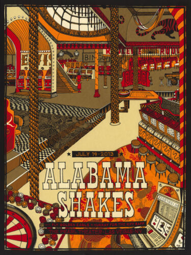 Alabama Shakes 7/19/2013 Poster The Peal Las Vegas Signed & Numbered