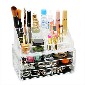 New-Clear-Acrylic-Cosmetic-Box-Make-up-Drawer-Organiser-Storage-Jewellery-Case