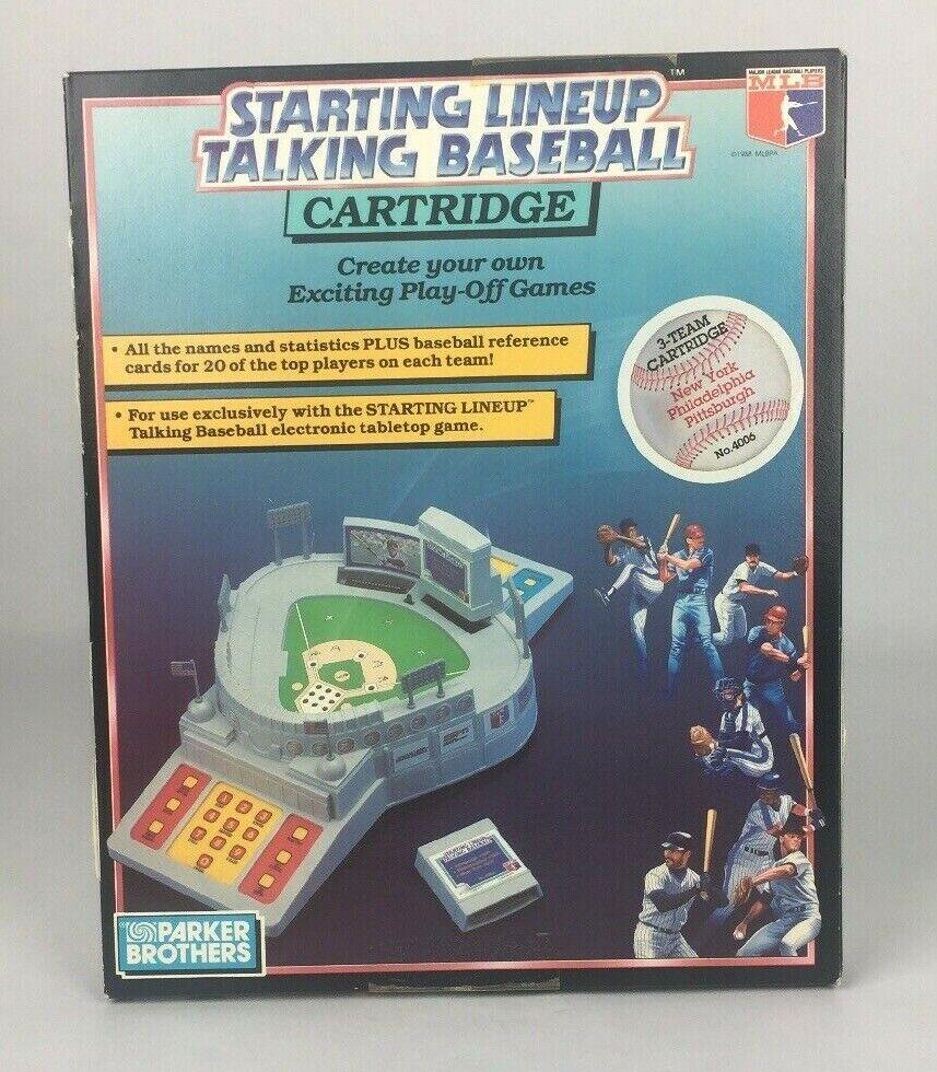 1988 Starting Lineup Talking Baseball Cartridge Pittsburgh New York Philadelphia