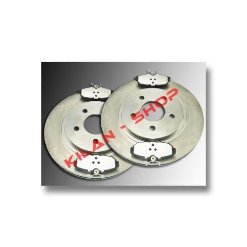 Discos de freno 2 /& cerámica zapatas atrás Ford Mustang 2005-2012