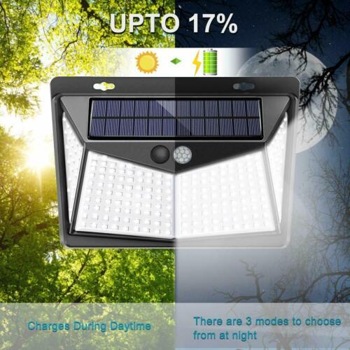 208 LED Solar Power Light PIR Motion Sensor Security Outdoor Garden Wall Lamp