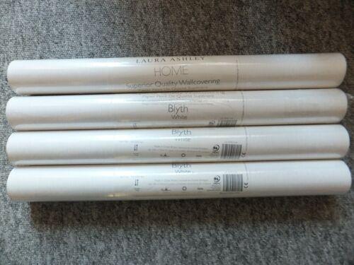 LAURA ASHLEY Blyth White Wallpaper Batch No W072303-A//1 PRICE PER ROLL