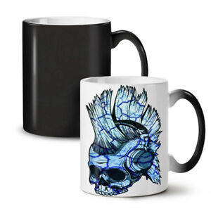 Funk Music Metal Skull NEW Colour Changing Tea Coffee Mug 11 oz | Wellcoda