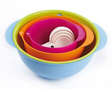 Mixing Bowl Set 8 Piece Multi Colour measuring Cups Colander Mixing Bowls