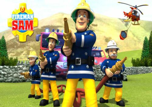 Tortenaufleger Geburtstag 20 x 28 cm DIN A4 Feuerwehrmann Sam  P15