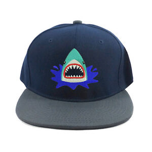 Image is loading Kid-039-s-Favorite-Shark-Baseball-Cap-Hat- e2e0ca2e485
