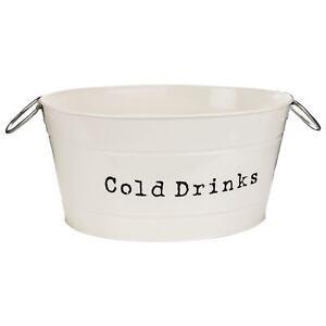 Boissons-Party-Cooler-Seau-en-Vintage-Metal-creme-Cocktails-Bar-a-vin-de-glace