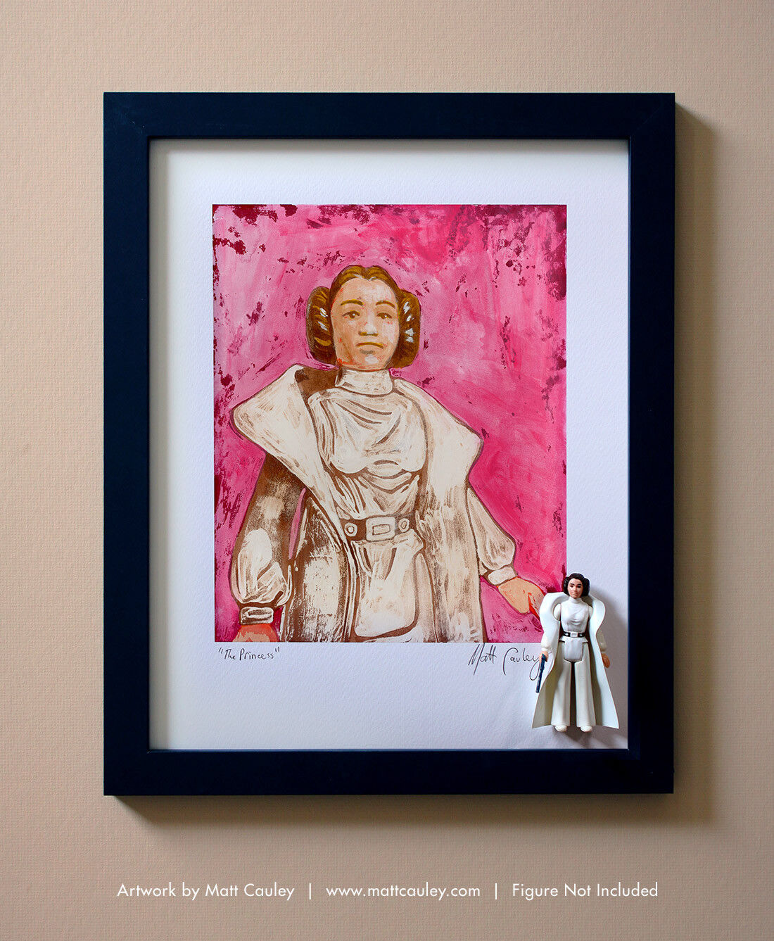 PRINCESS LEIA Vintage Vintage Vintage Kenner Star Wars Action Figure ORIGINAL ART PRINT 3.75 e8afe9