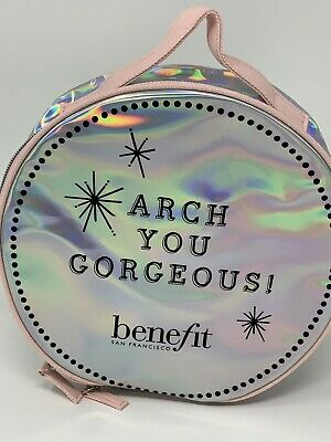 Benefit Cosmetics 2019 Arch You Gorgeous ULTA Brows Round Large Cosmetic Bag | eBay