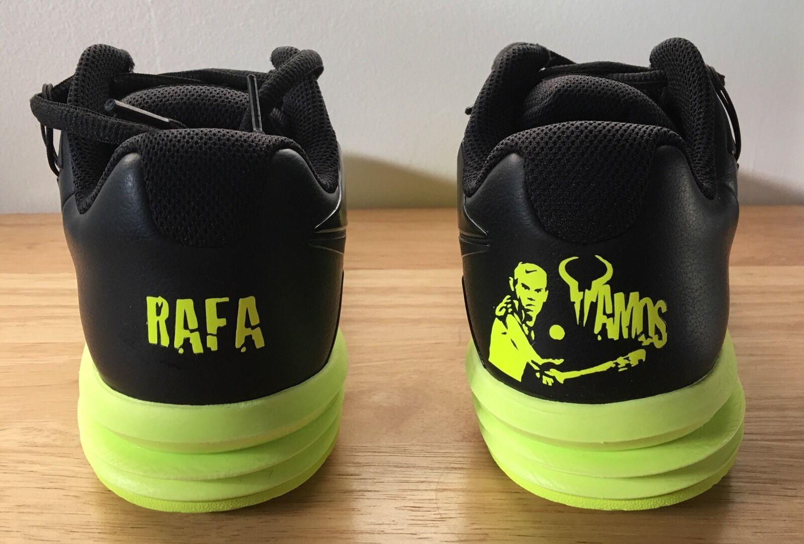 nike lunarballistec Nadal tennis shoes with customization option federer (sz8.5)