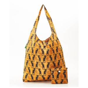 Le Chat Noir Cat Eco Chic Foldaway Shopper Scotland Waterproof 38x53x10 cm