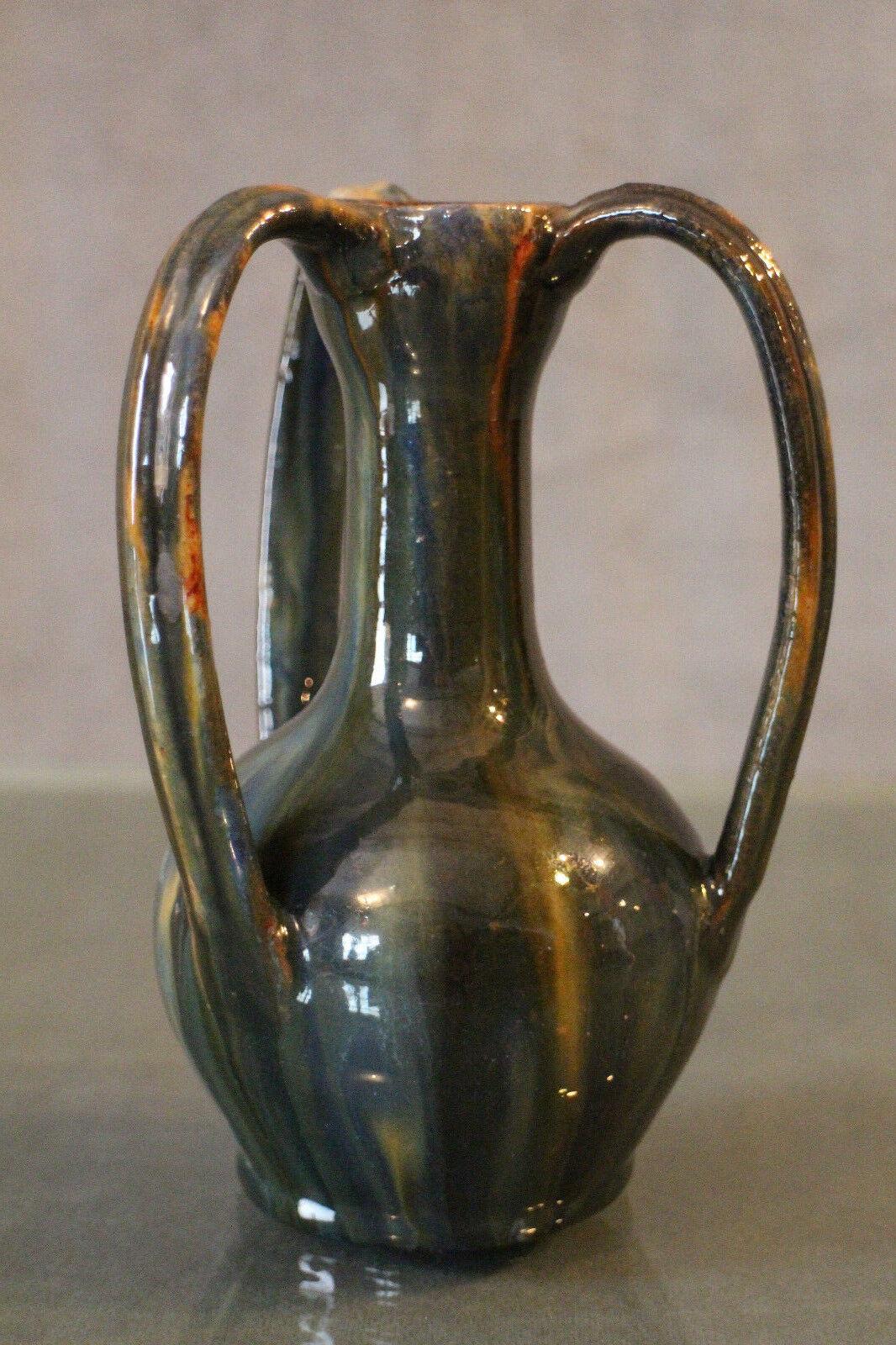 Vase - Dreifach Kumme aus Terrakotta Glasiert Signiert Anne Britannien Steingut