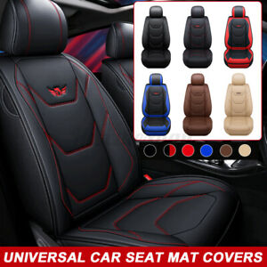 Universal-PU-Leather-Car-Front-Seat-Covers-Mat-Pad-Breathable-Cushion-Pad-Set