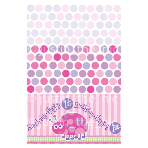 1st Primer Cumpleaños Niñas Rosa Ladybug Party Supplies Vajilla